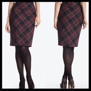 BOGO 50% White House Black Market Plaid Skirt